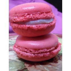 macaron fraise coquelicot